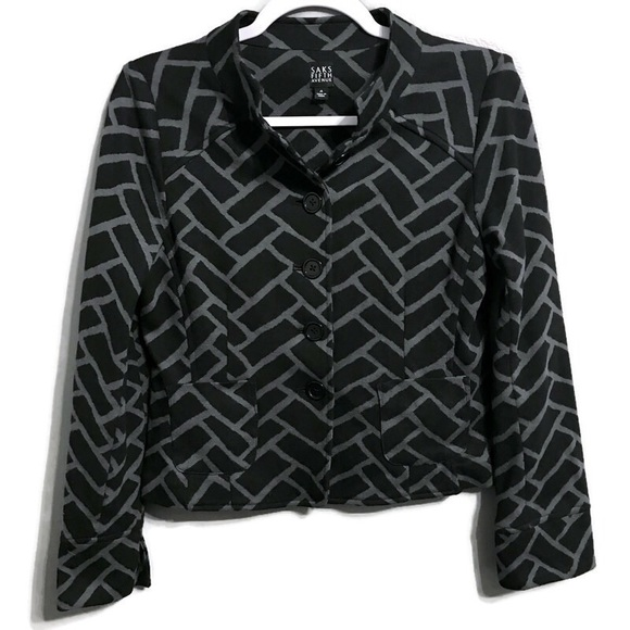 Saks Fifth Avenue Jackets & Blazers - Saks Fifth Ave Button Up Career Cropped Jacket 4